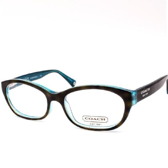15da9b252e New COACH Rx Eyeglasses Kristin Teal Tortoise NWT